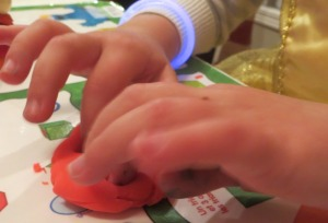 Using Play Doh for Finger Strength