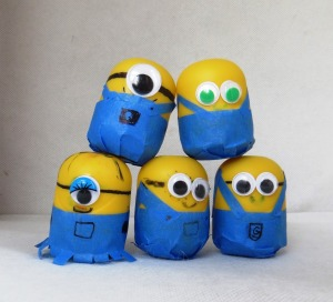 minion-themed shaker toys